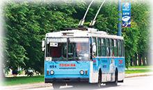 Реклама на тролейбусі у Львові