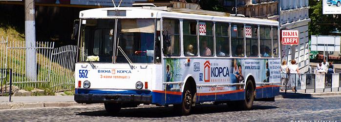 Реклама на тролейбусах