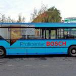 Реклама на автобусі для Профіцентру BOSCH