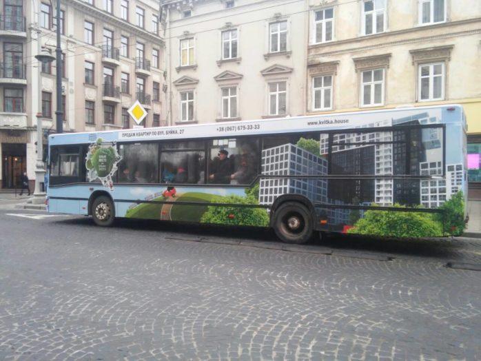 Реклама на транспорті Львів