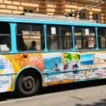 Зовнішня реклама на тролейбусі