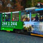 Реклама на трамваї Львів