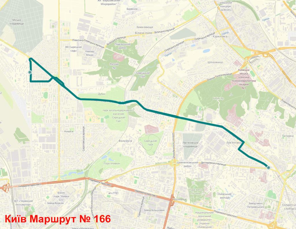 Маршрутка 166 Київ