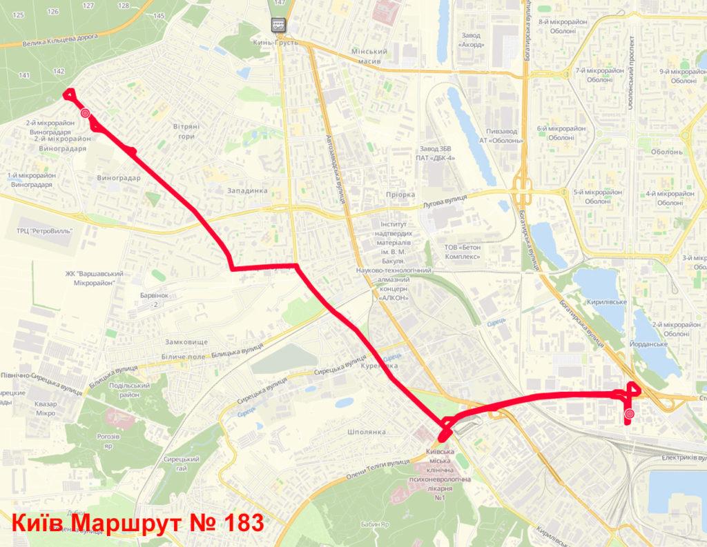 Маршрутка 183 Київ
