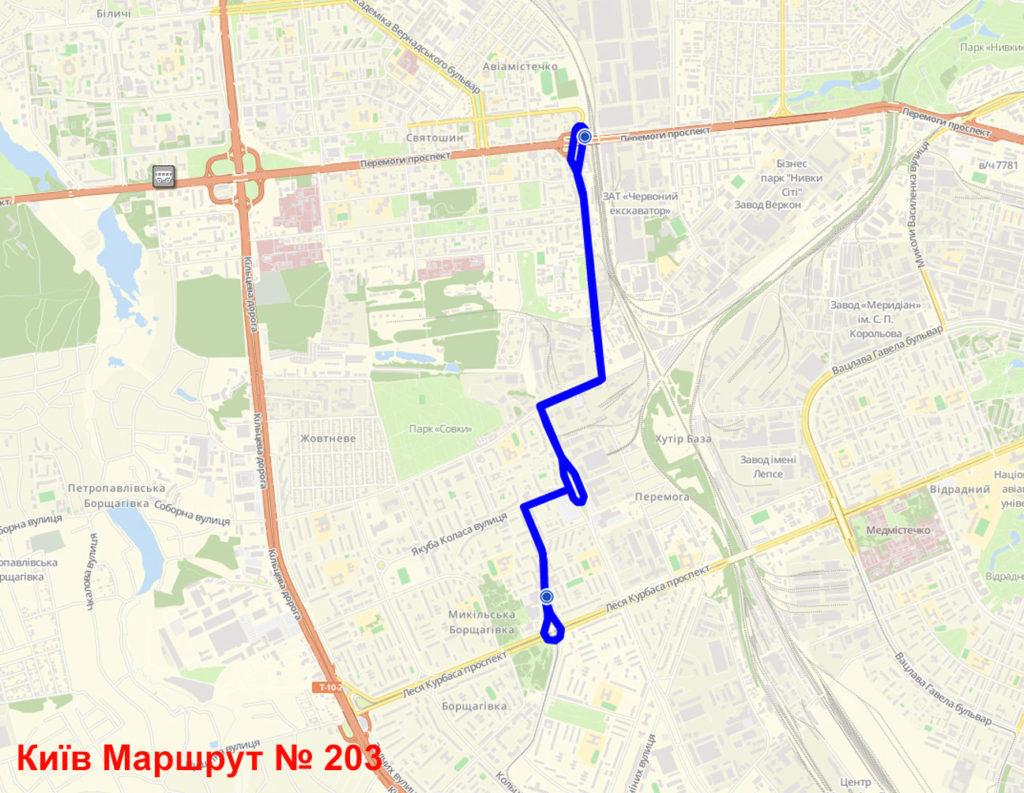 Маршрутка 203 Київ