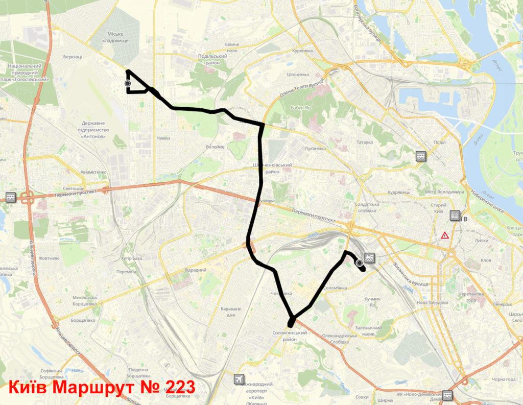 Маршрутка 223 Київ
