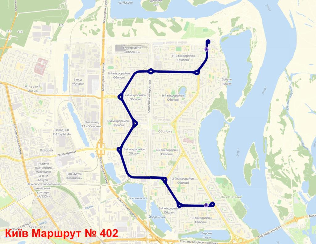 Маршрутка 402 Київ