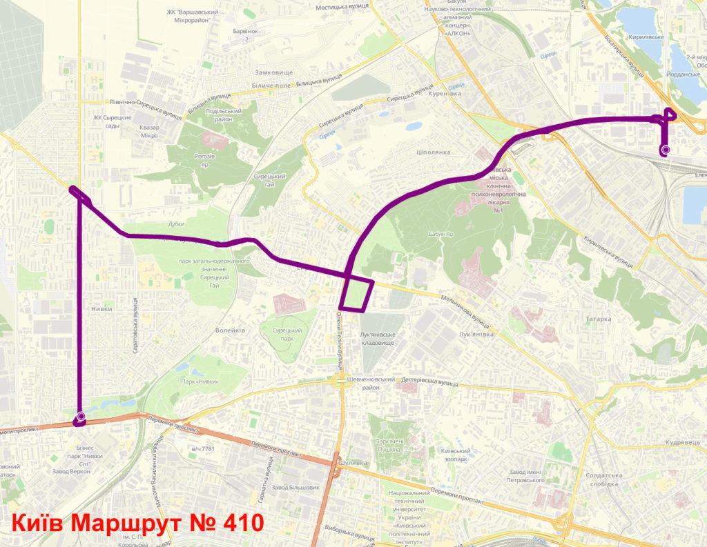 Маршрутка 410 Київ