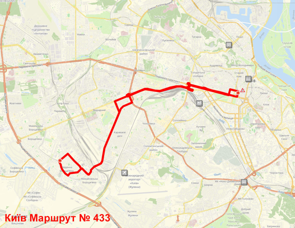 Маршрутка 433 Київ