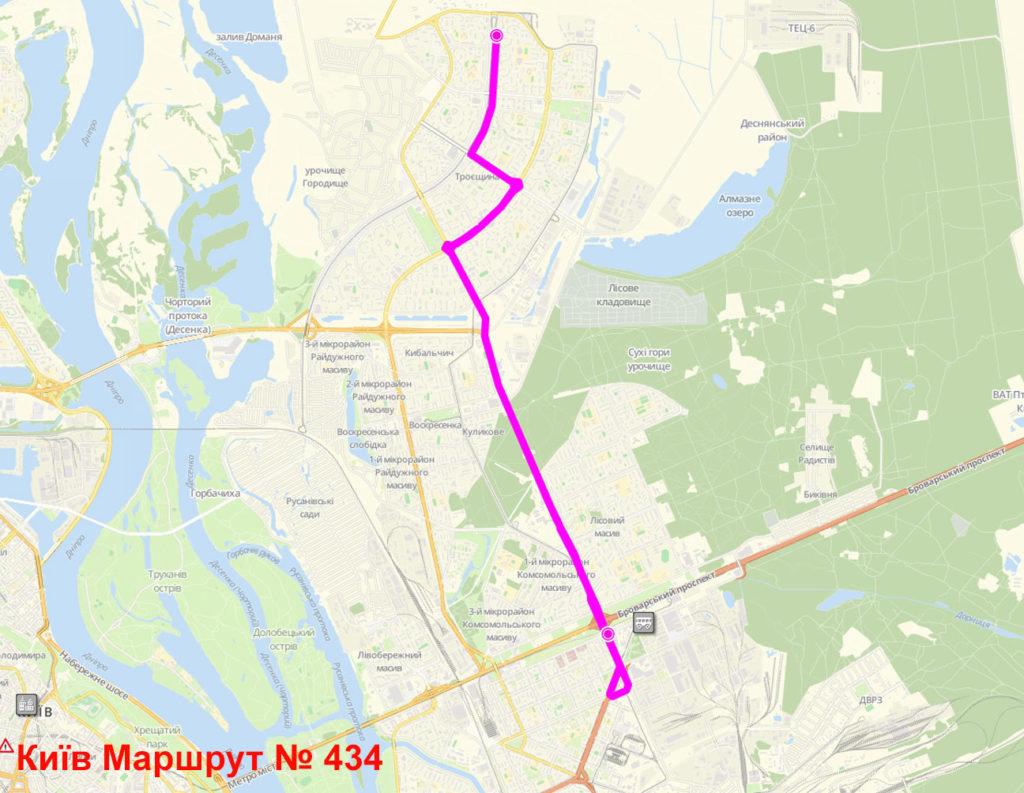 Маршрутка 434 Київ
