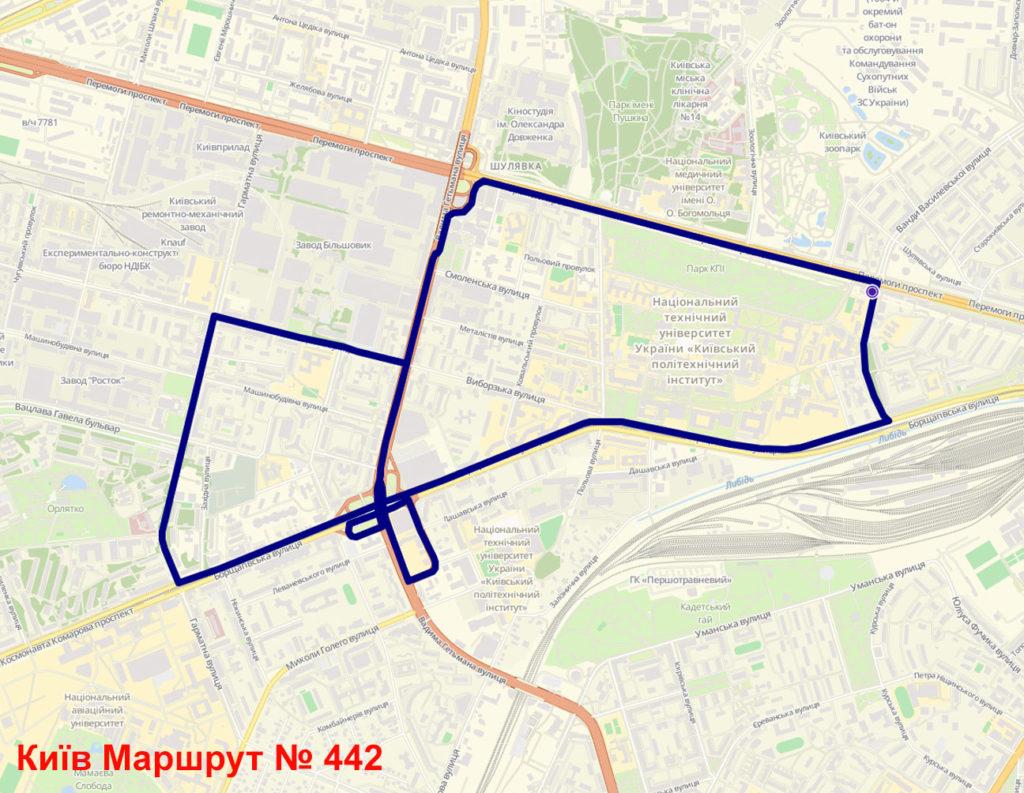 Маршрутка 442 Київ