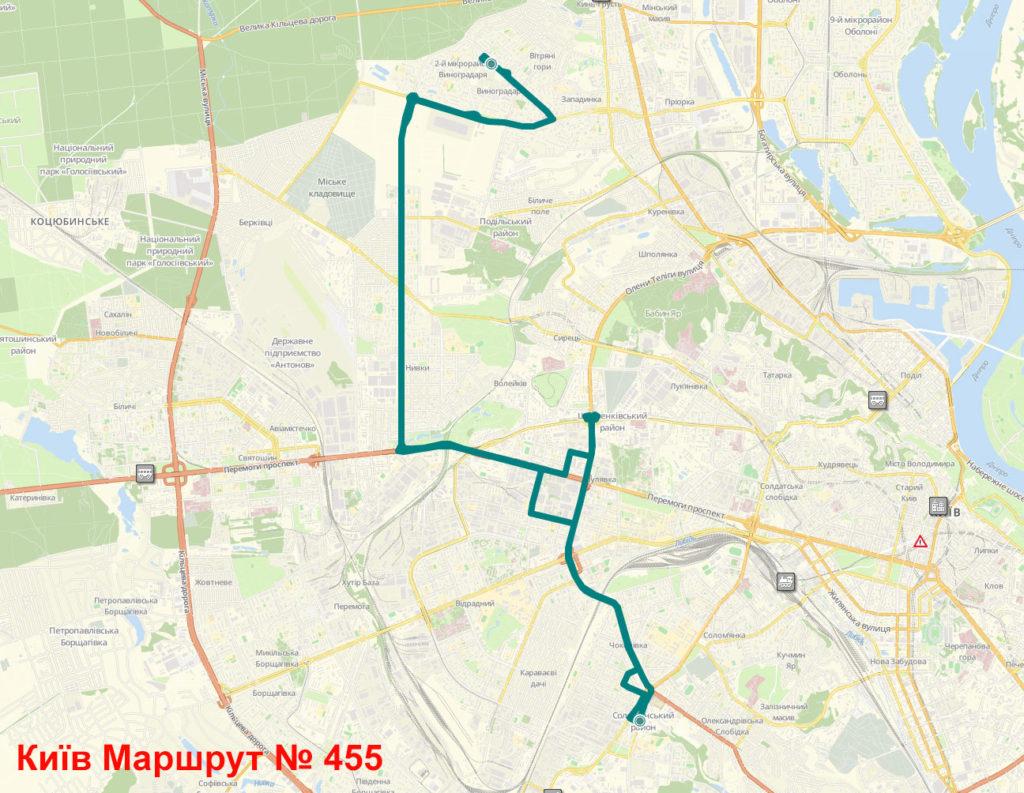 Маршрутка 455 Київ