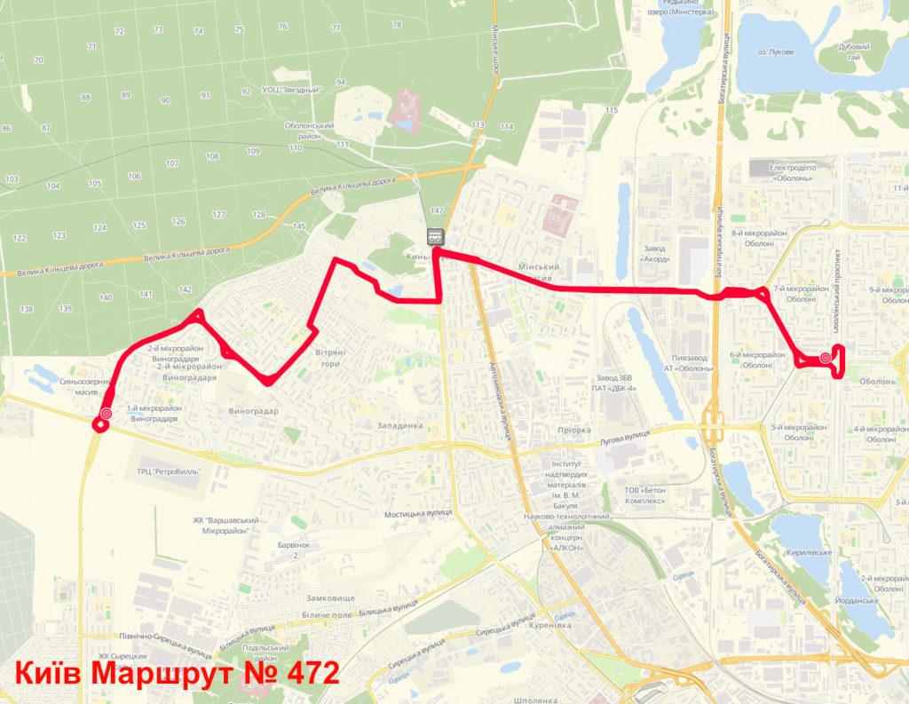 Маршрутка 472 Київ