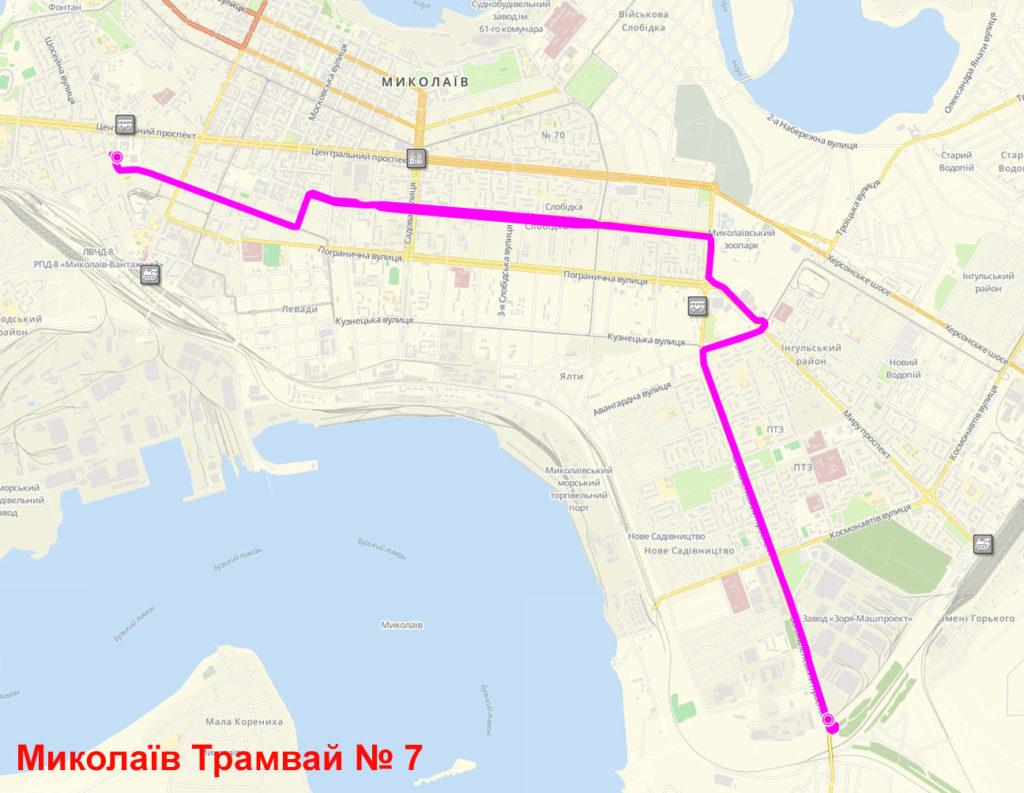Трамвай 7 Миколаїв
