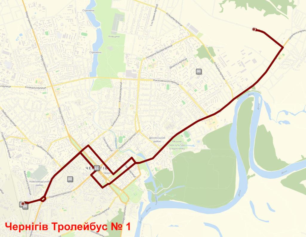 Тролейбус 1 Чернігів