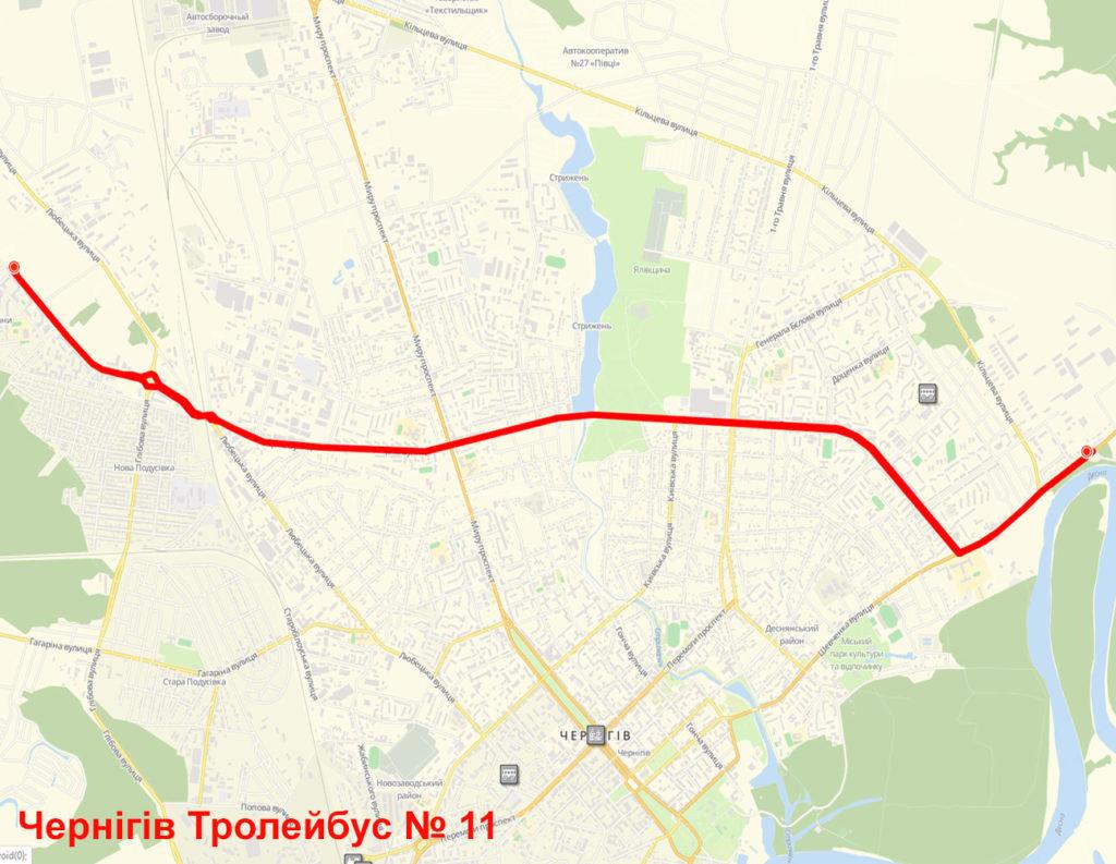 Тролейбус 11 Чернігів