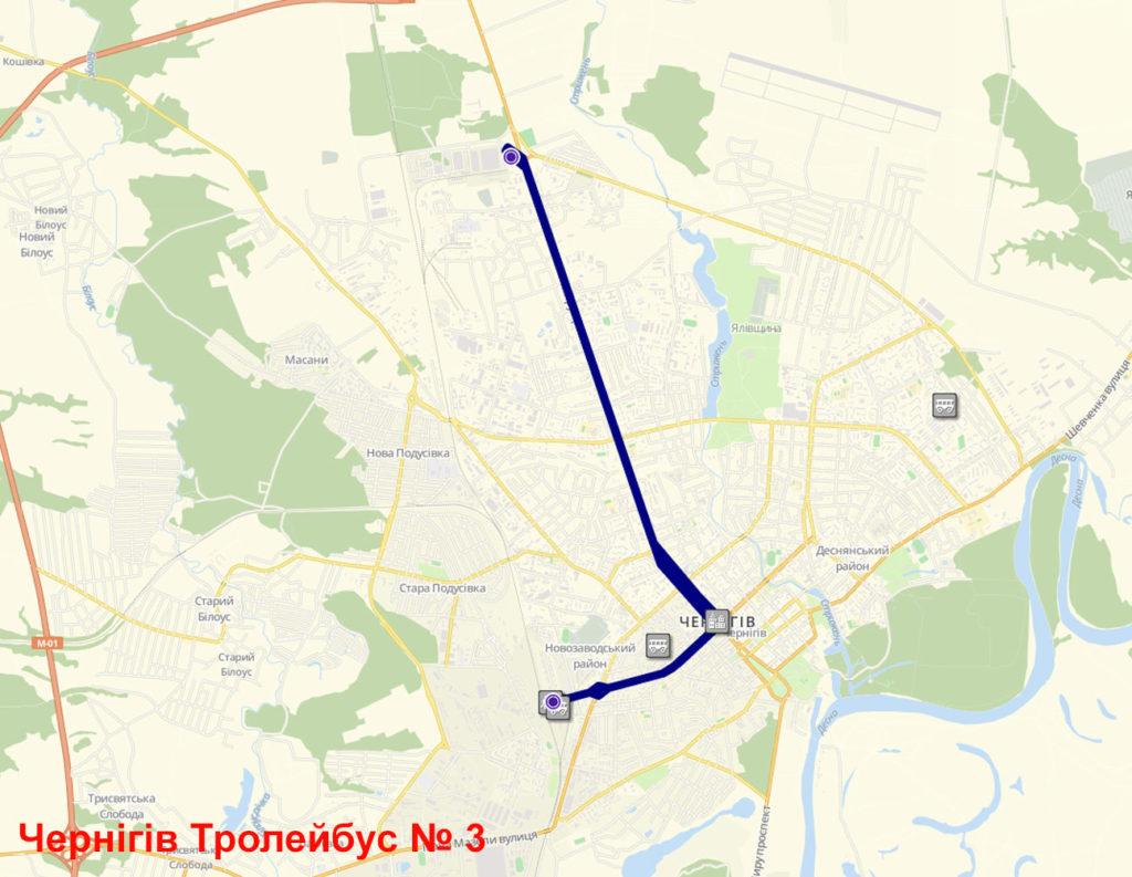 Тролейбус 3 Чернігів