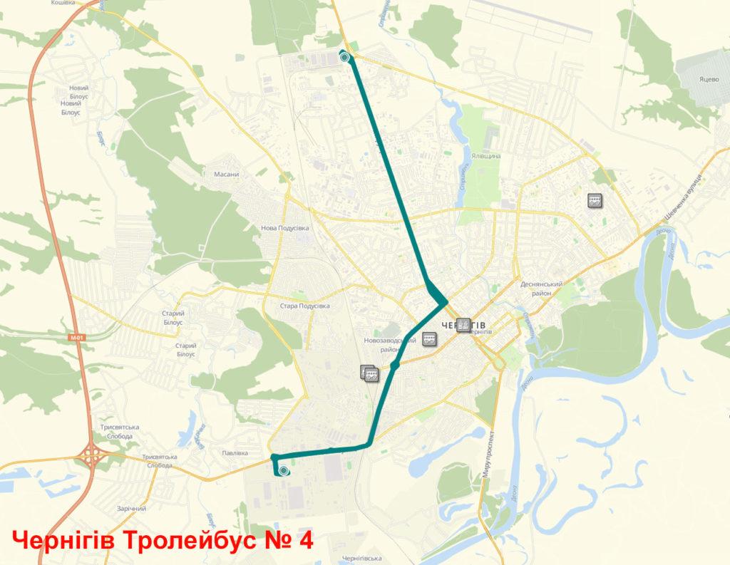 Тролейбус 4 Чернігів