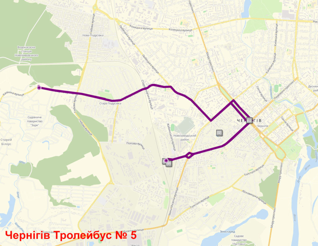 Тролейбус 5 Чернігів