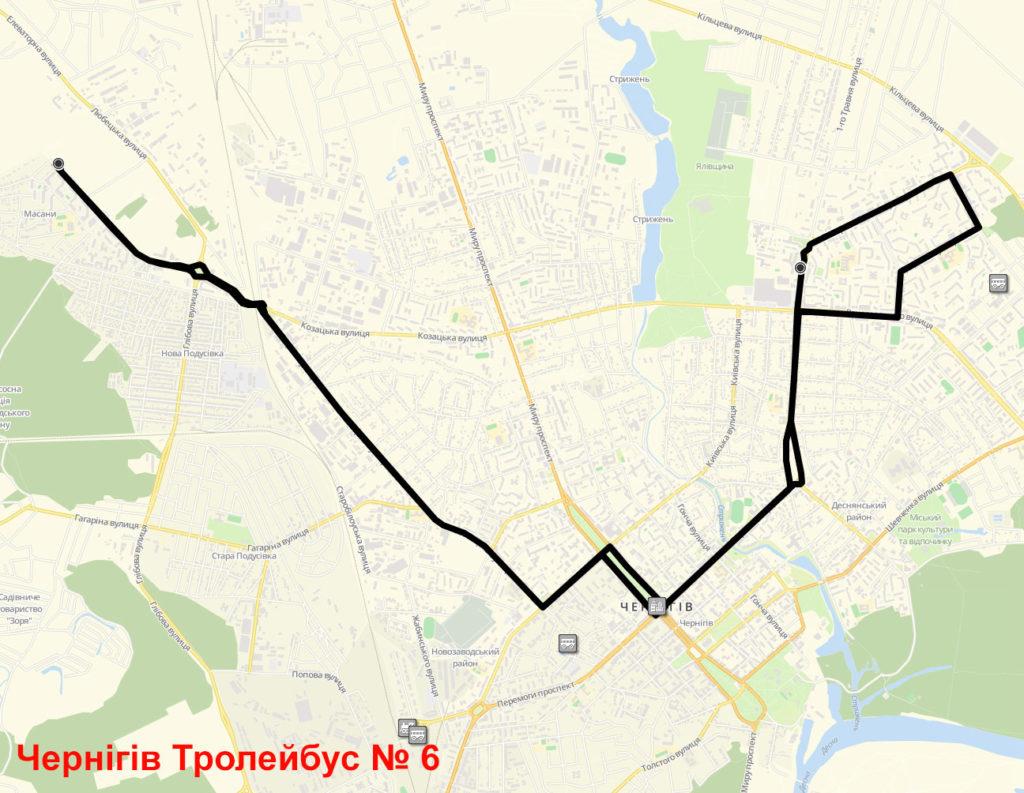 Тролейбус 6 Чернігів