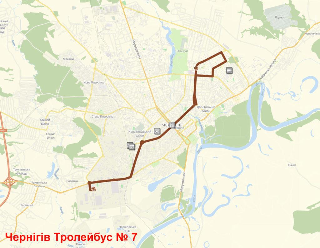 Тролейбус 7 Чернігів