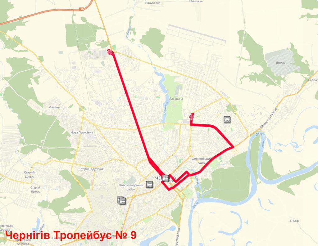 Тролейбус 9 Чернігів