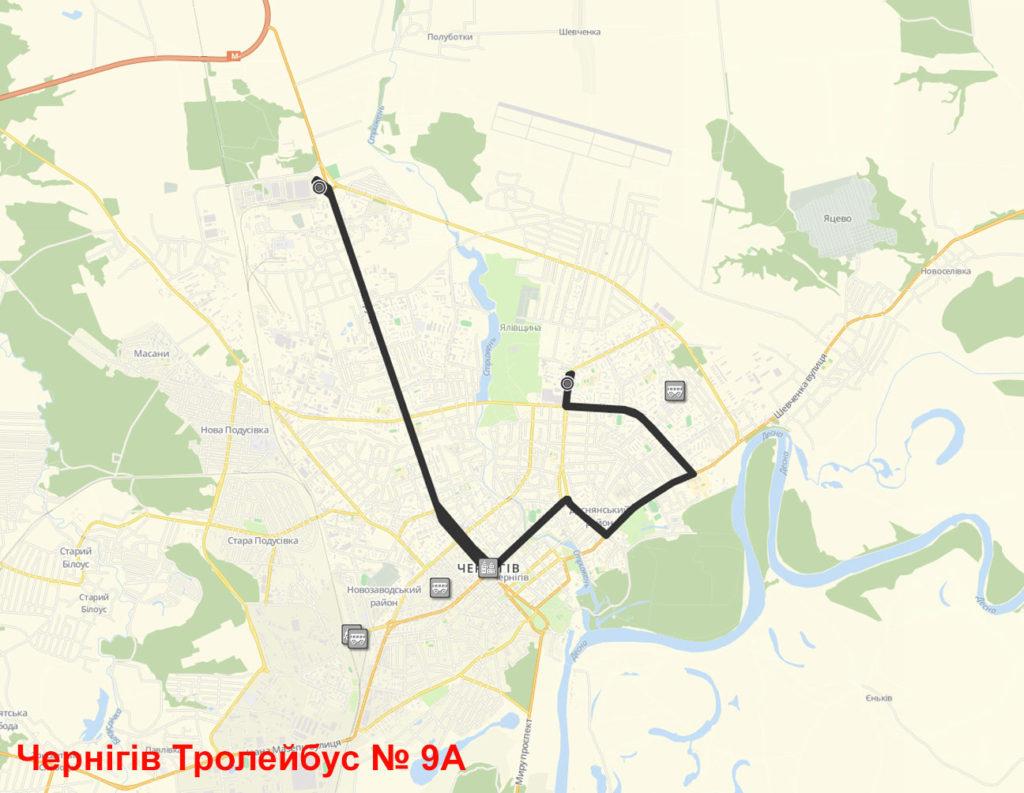 Тролейбус 9А Чернігів