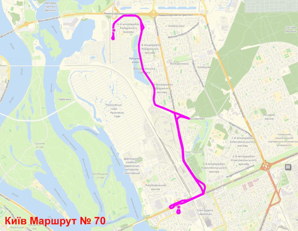 Автобус 70 Київ