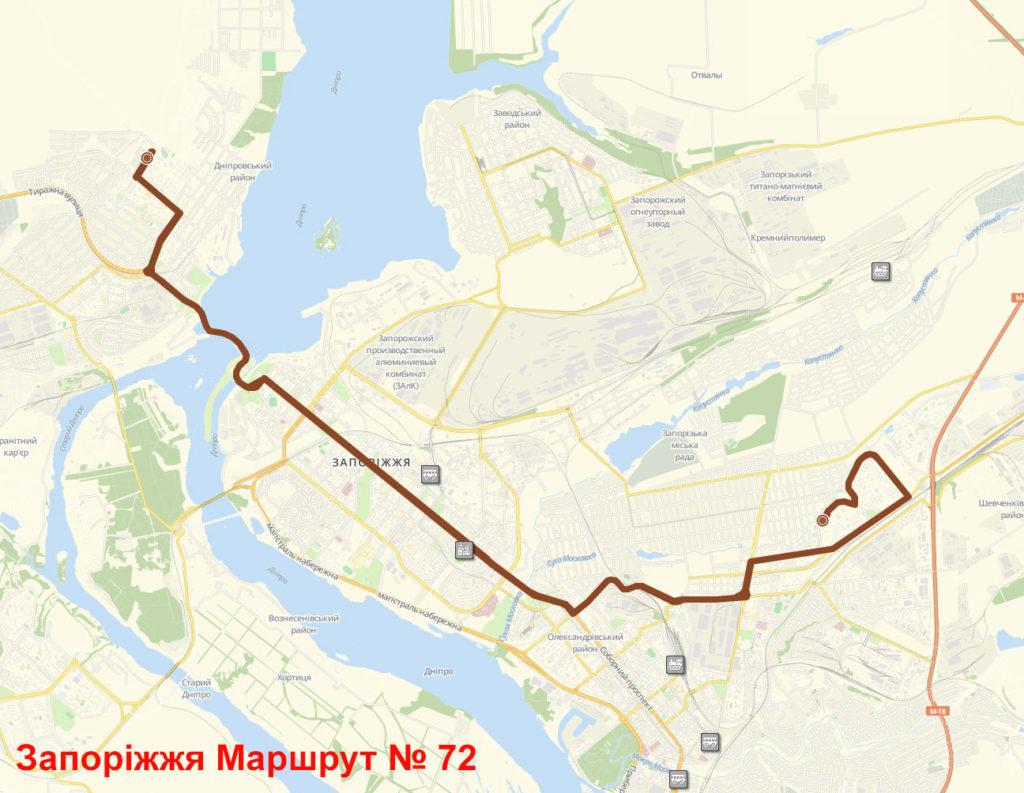 Автобус 72 Запоріжжя