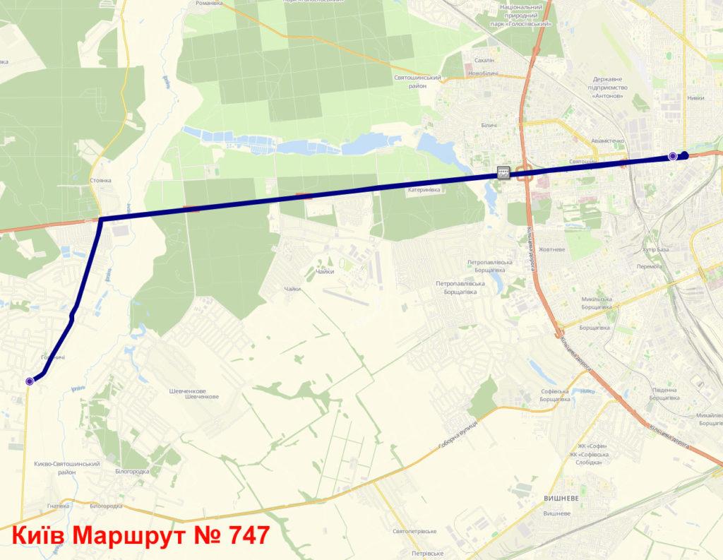 Автобус 747 Київ