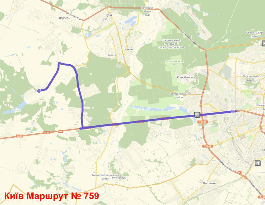 Автобус 759 Київ
