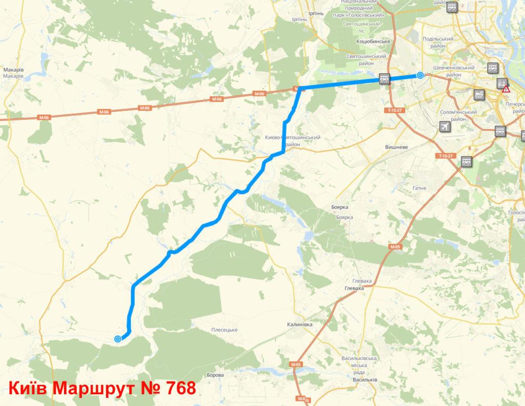 Автобус 768 Київ