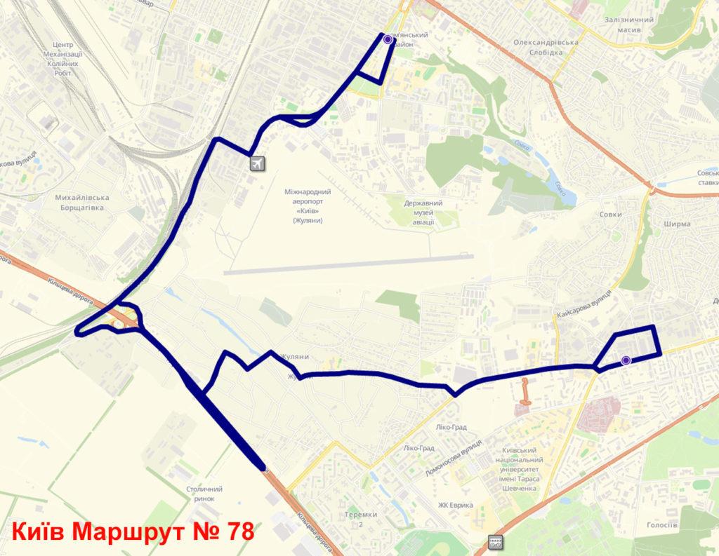 Автобус 78 Київ
