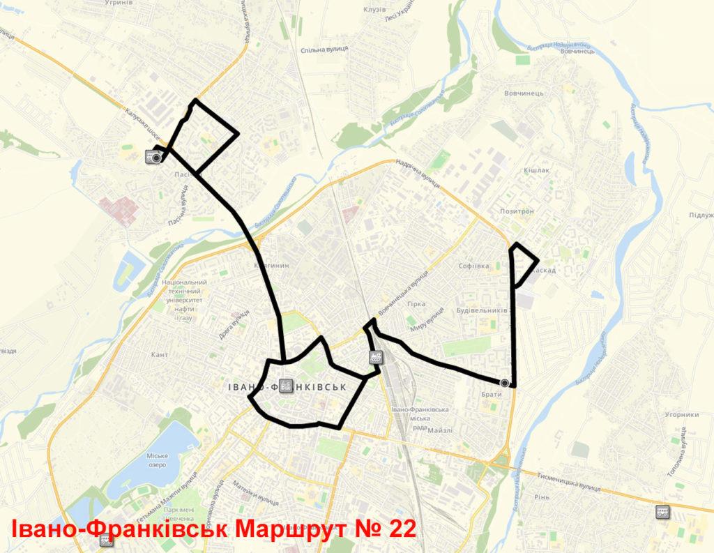 Маршрутка 22 Івано-Франківськ