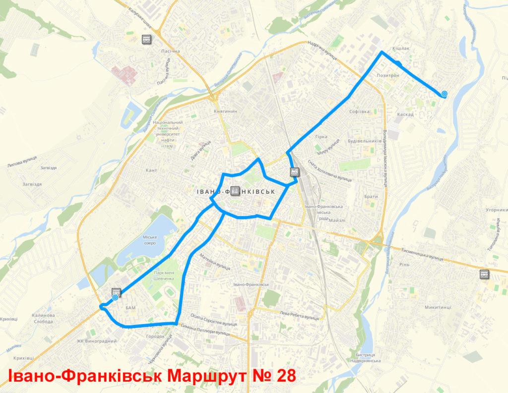 Маршрутка 28 Івано-Франківськ