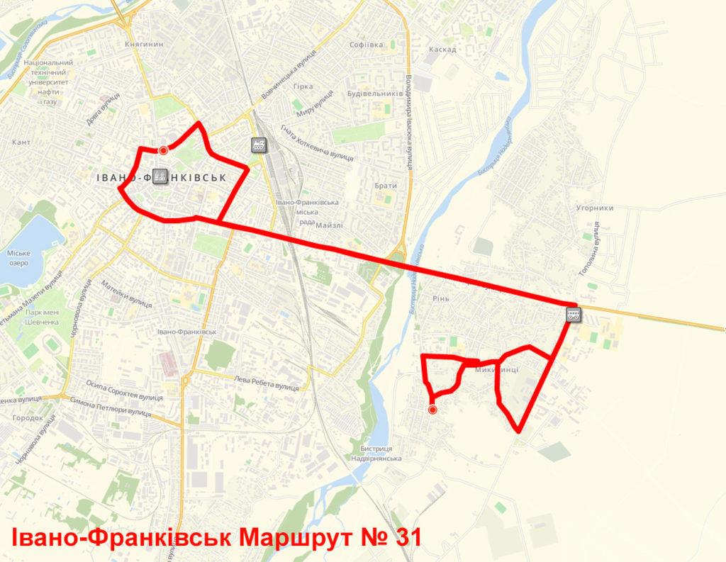 Маршрутка 31 Івано-Франківськ