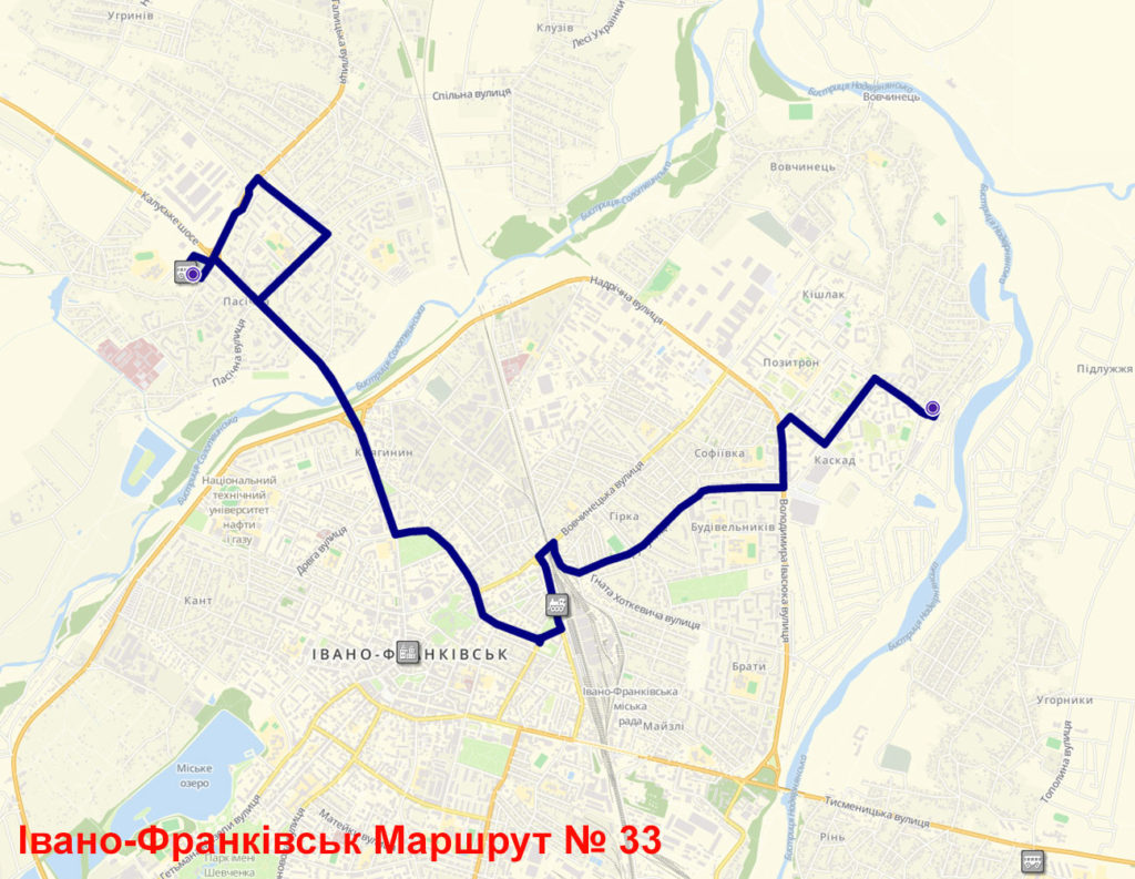 Маршрутка 33 Івано-Франківськ