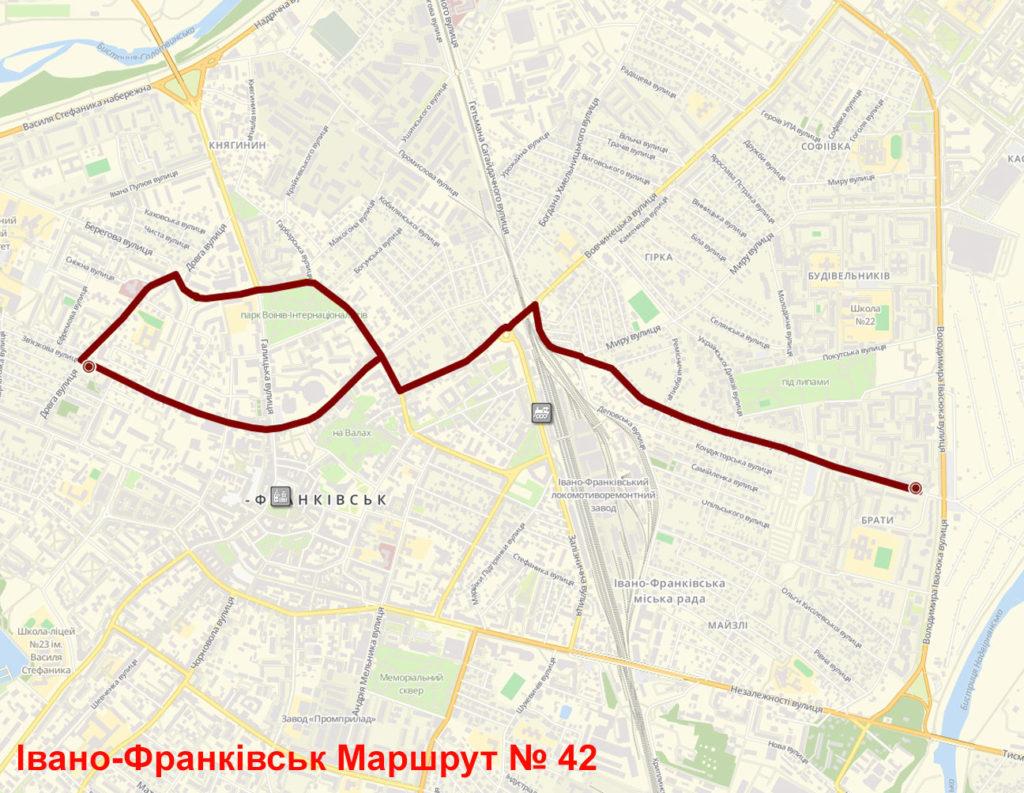 Маршрутка 42 Івано-Франківськ