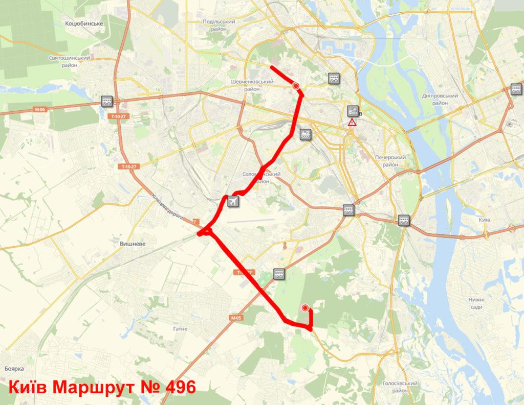 Маршрутка 496 Київ