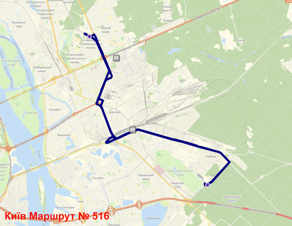 Маршрутка 516 Київ