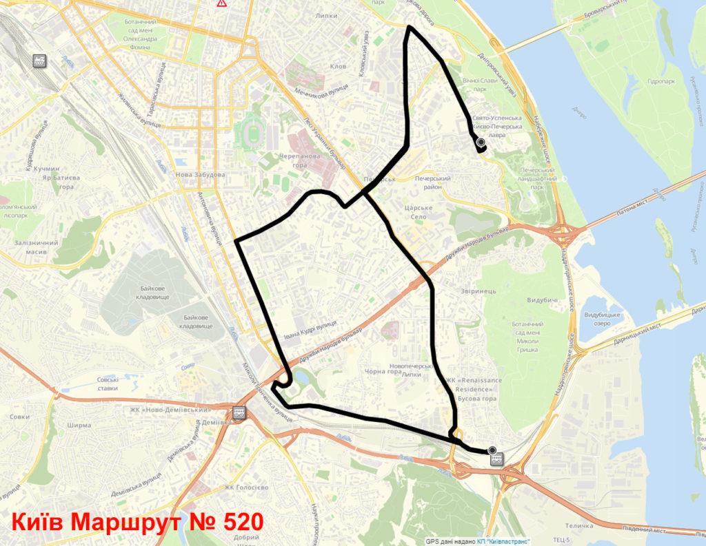 Маршрутка 520 Київ