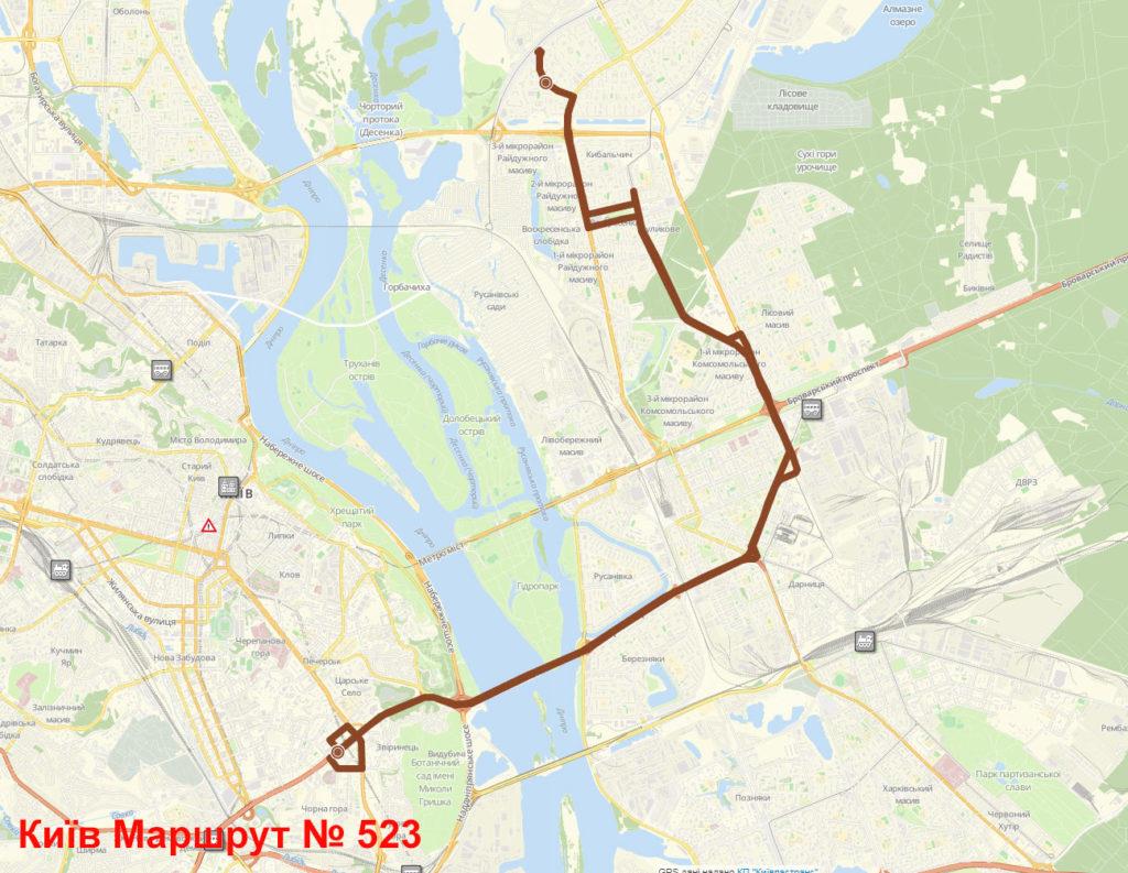 Маршрутка 523 Київ