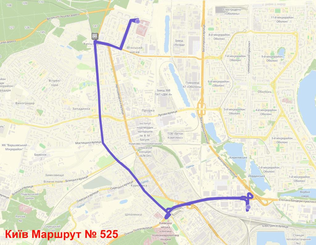 Маршрутка 525 Київ