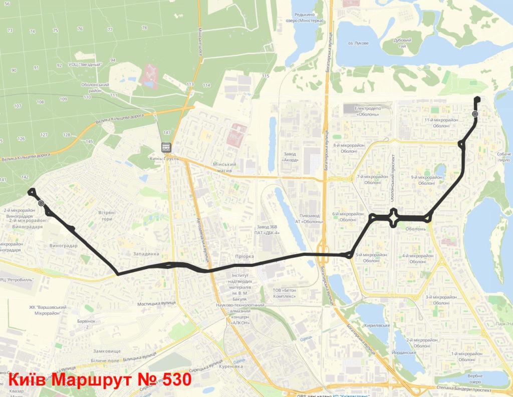 Маршрутка 530 Київ