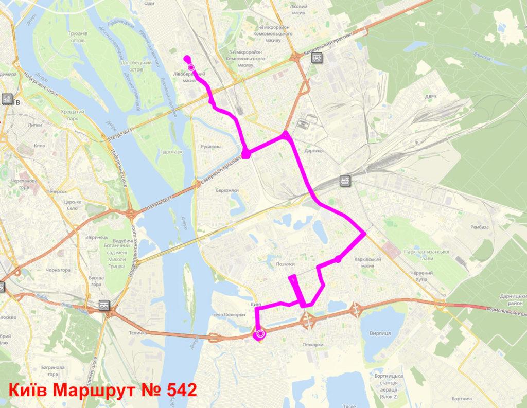 Маршрутка 542 Київ