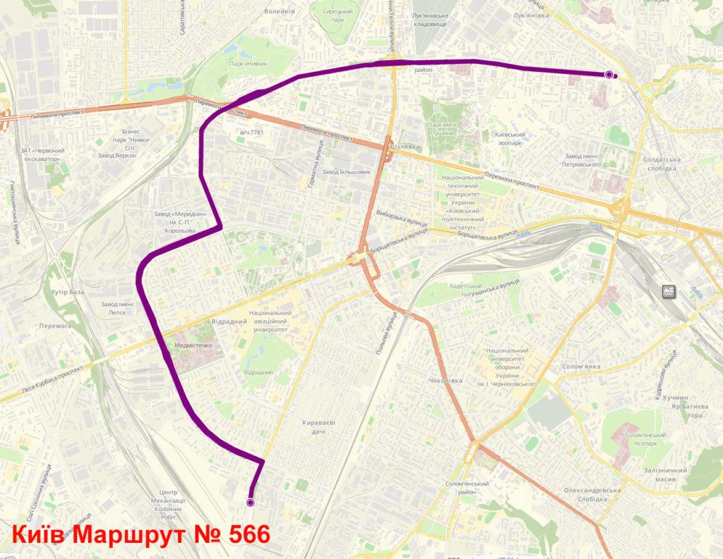 Маршрутка 566 Київ