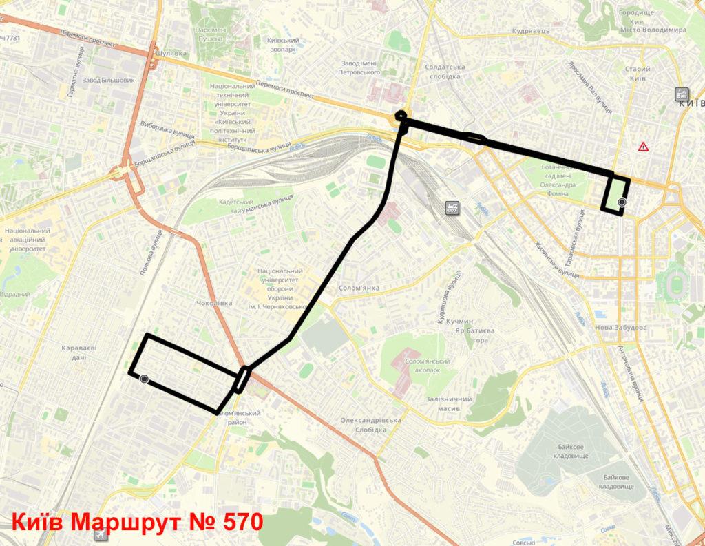 Маршрутка 570 Київ