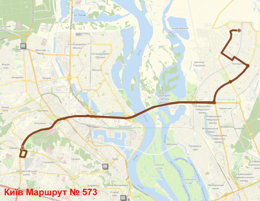 Маршрутка 573 Київ