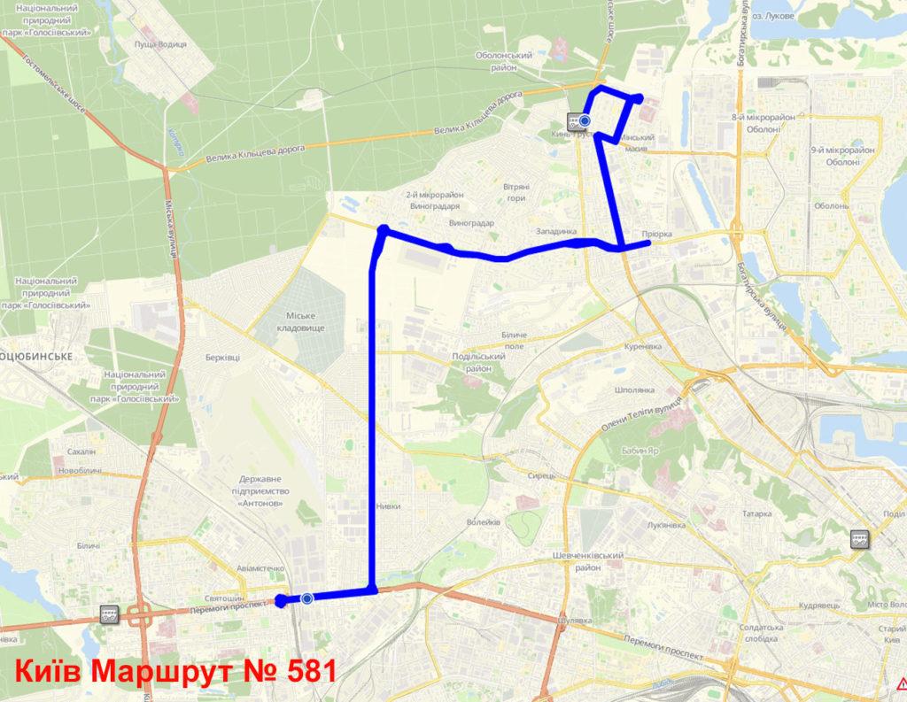 Маршрутка 581 Київ