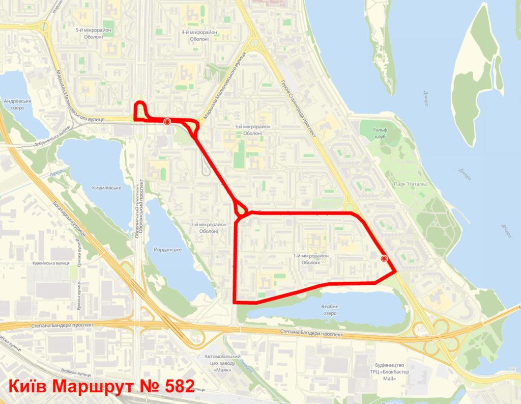 Маршрутка 582 Київ